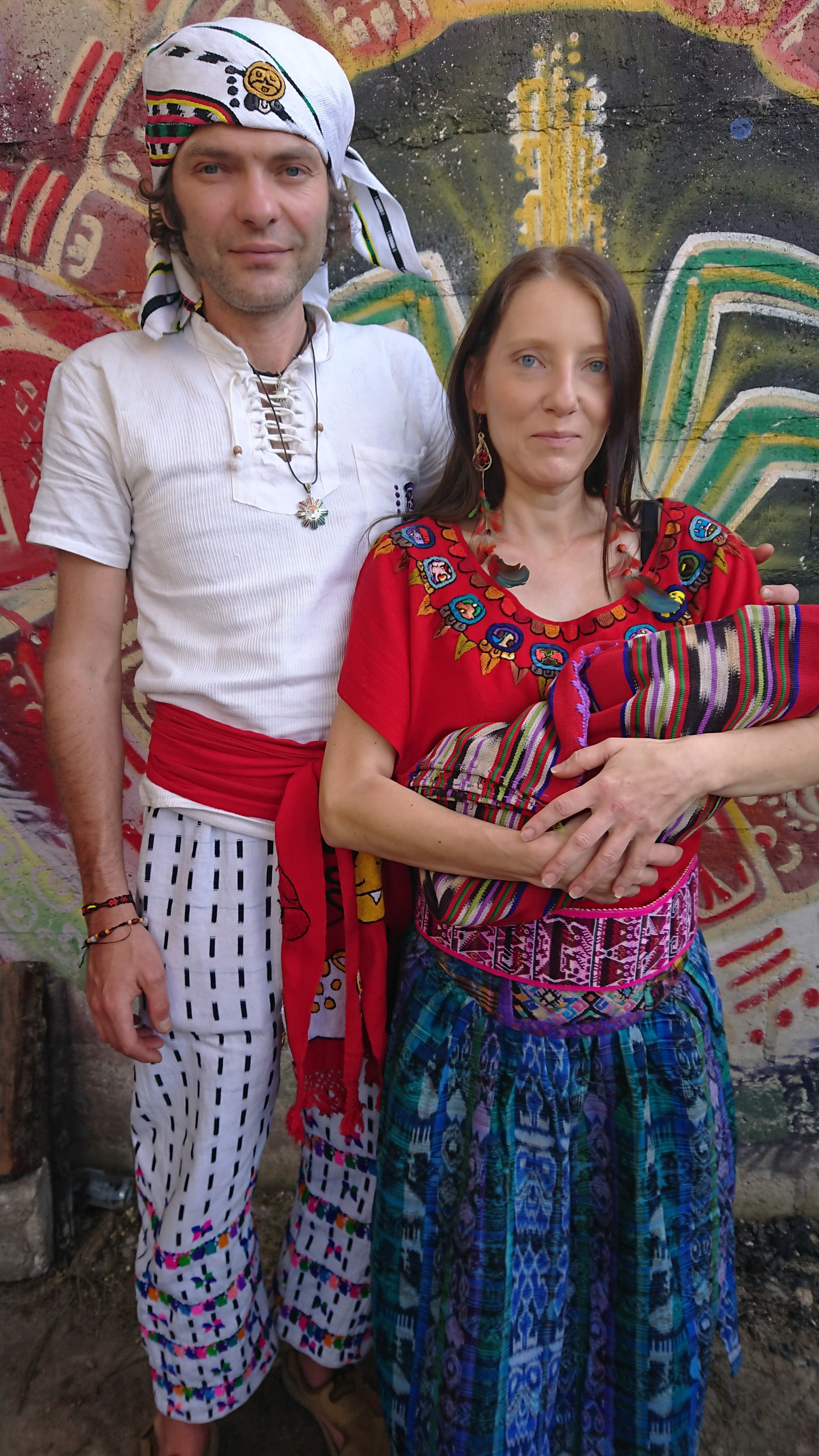 Ilona i Robert z córeczką. Gwatemala 2019